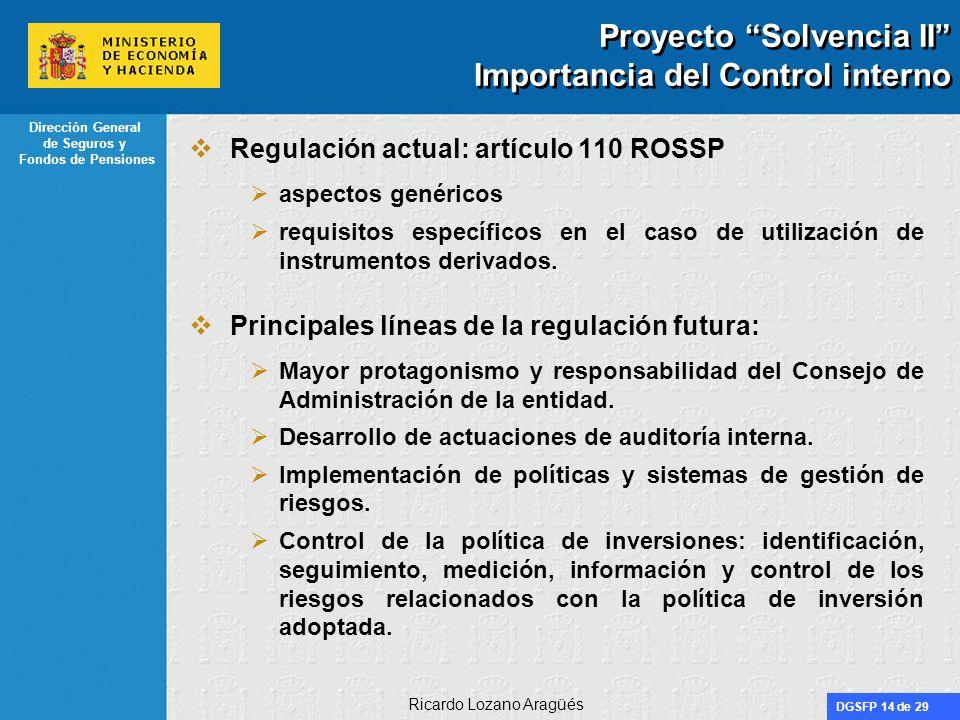 Proyecto Solvencia II Importancia del Control interno