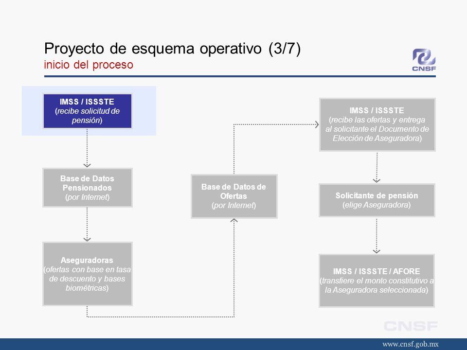 Proyecto de esquema operativo (3/7) inicio del proceso