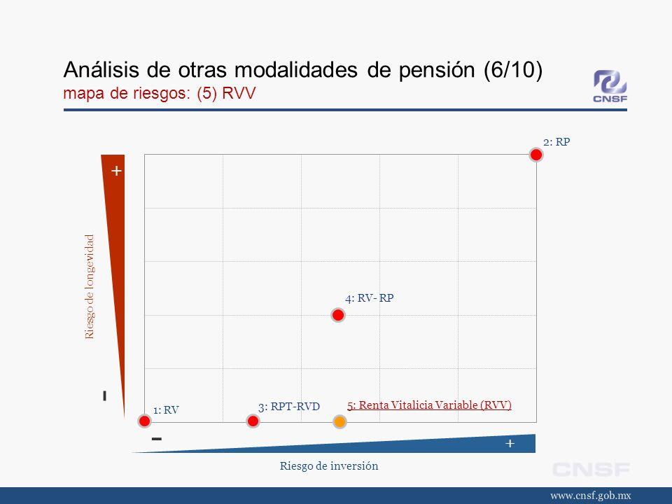Análisis de otras modalidades de pensión (6/10) mapa de riesgos: (5) RVV