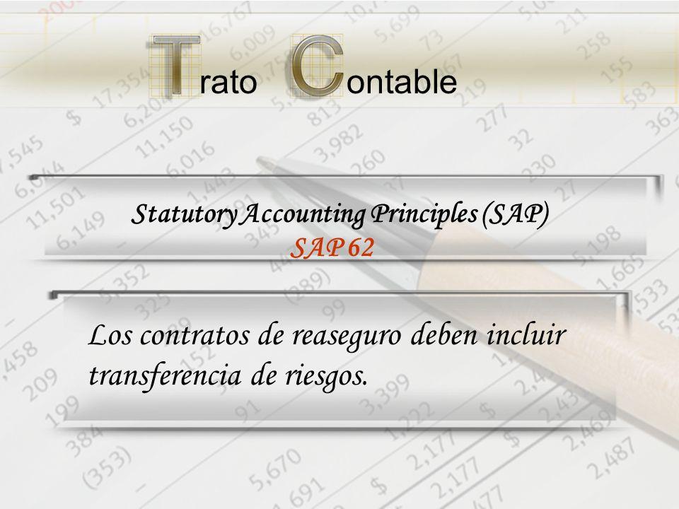 Los contratos de reaseguro deben incluir transferencia de riesgos.