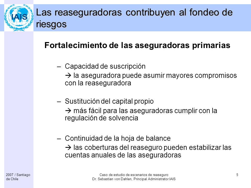 Las reaseguradoras contribuyen al fondeo de riesgos