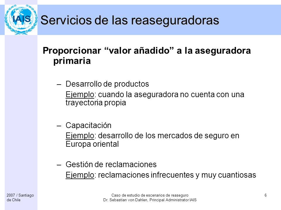 Servicios de las reaseguradoras