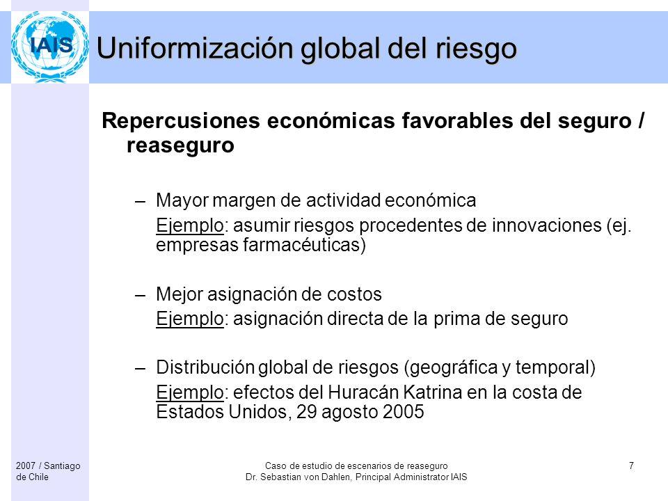 Uniformización global del riesgo
