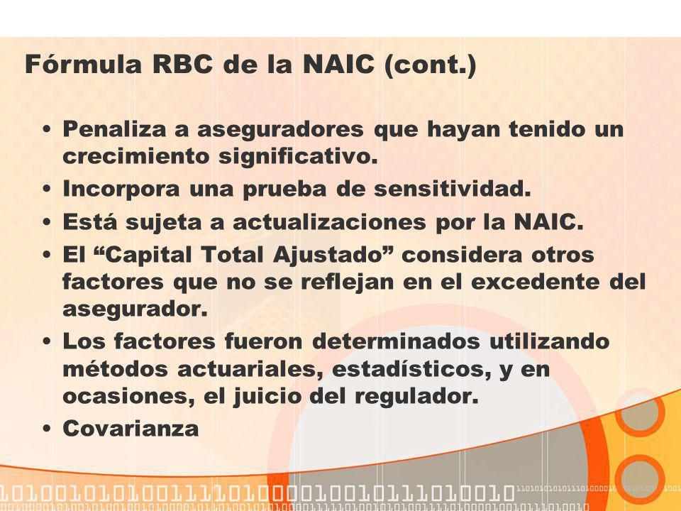 Fórmula RBC de la NAIC (cont.)
