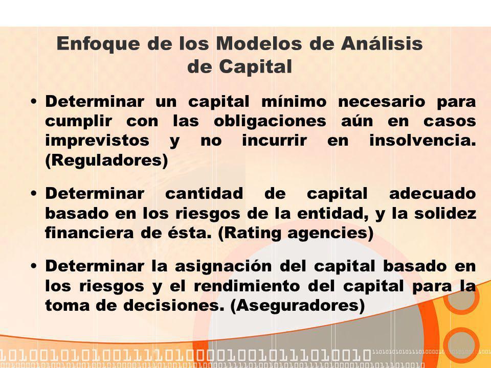 Enfoque de los Modelos de Análisis de Capital