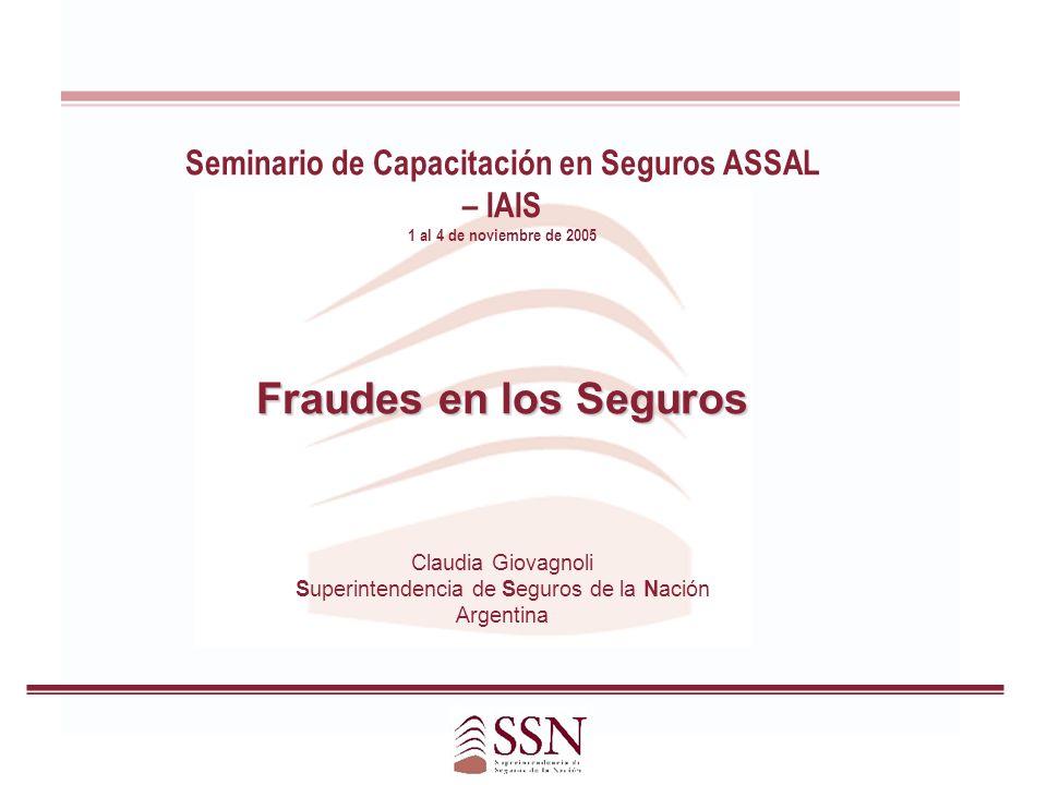 Seminario de Capacitación en Seguros ASSAL – IAIS
