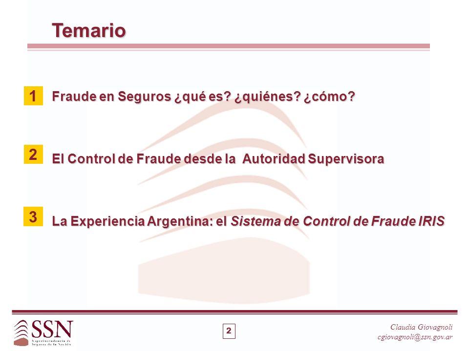 Temario 1 2 3 Fraude en Seguros ¿qué es ¿quiénes ¿cómo