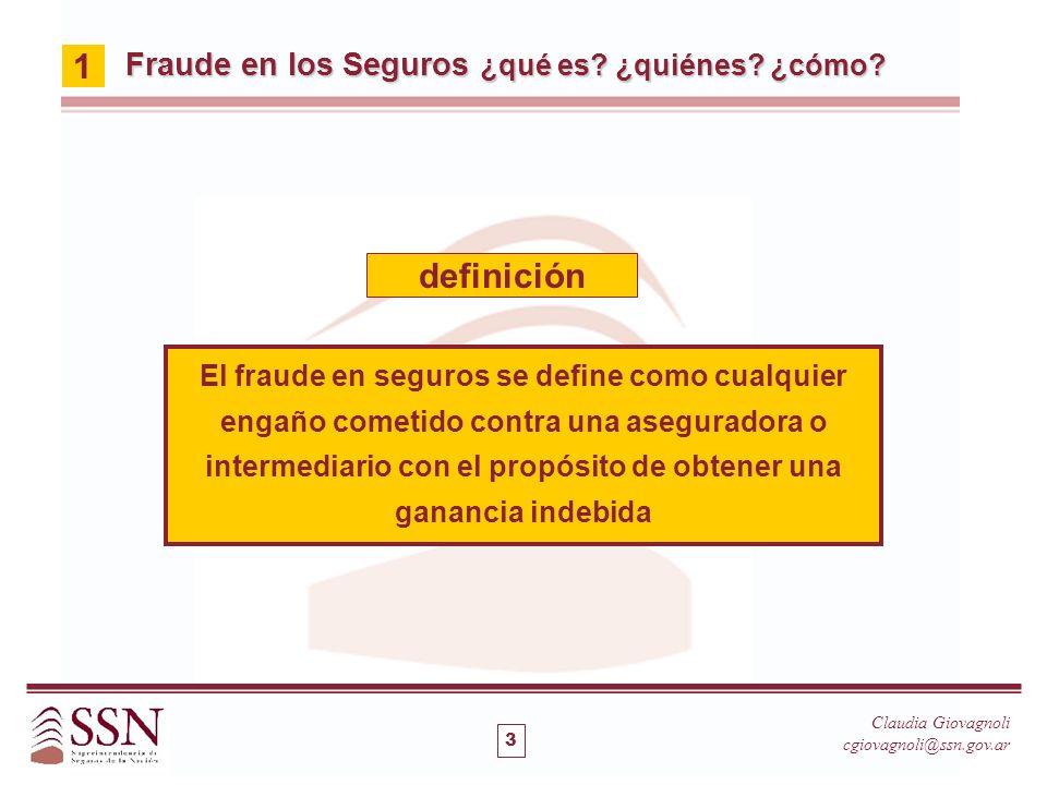 1 definición Fraude en los Seguros ¿qué es ¿quiénes ¿cómo