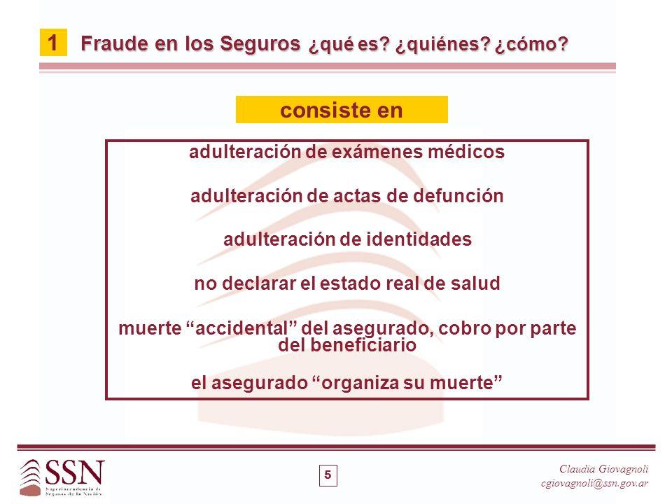 1 consiste en Fraude en los Seguros ¿qué es ¿quiénes ¿cómo