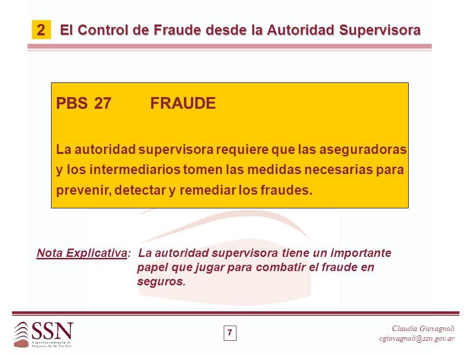PBS 27 FRAUDE 2 El Control de Fraude desde la Autoridad Supervisora