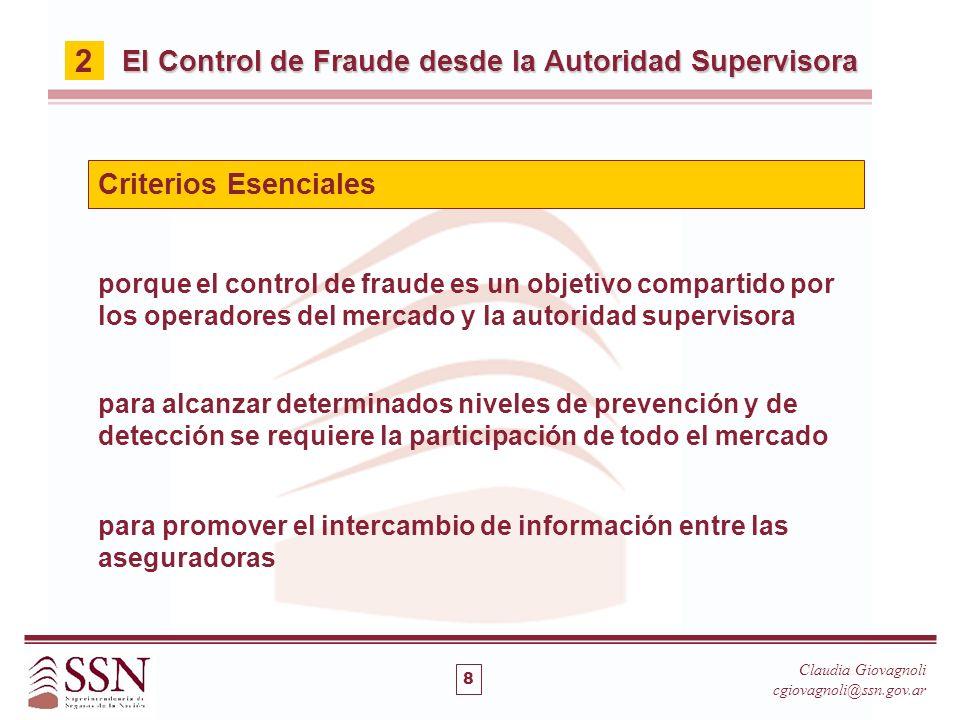 2 El Control de Fraude desde la Autoridad Supervisora