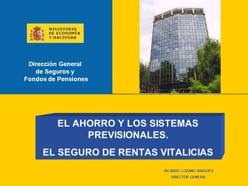 EL AHORRO Y LOS SISTEMAS PREVISIONALES. EL SEGURO DE RENTAS VITALICIAS