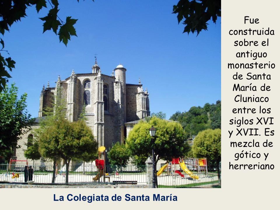 Fue construida sobre el antiguo monasterio de Santa María de Cluniaco entre los siglos XVI y XVII. Es mezcla de gótico y herreriano