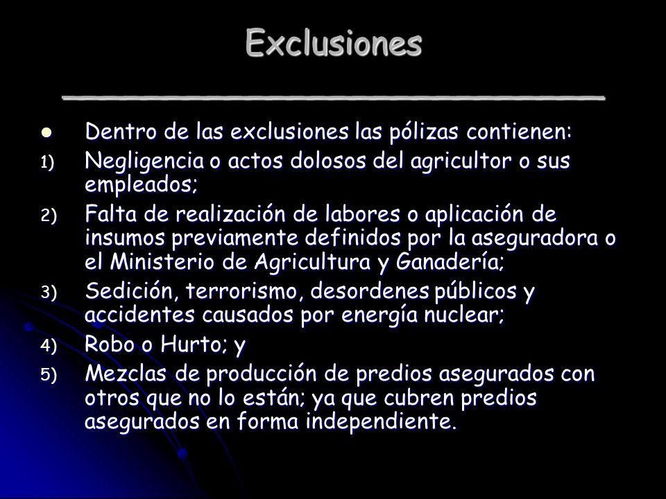 Exclusiones __________________________