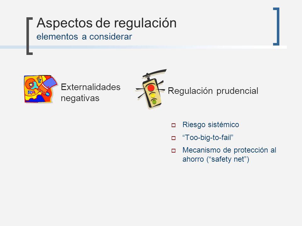 Aspectos de regulación elementos a considerar