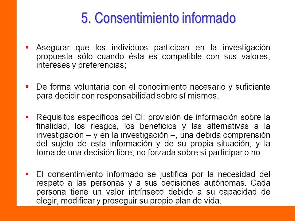 5. Consentimiento informado