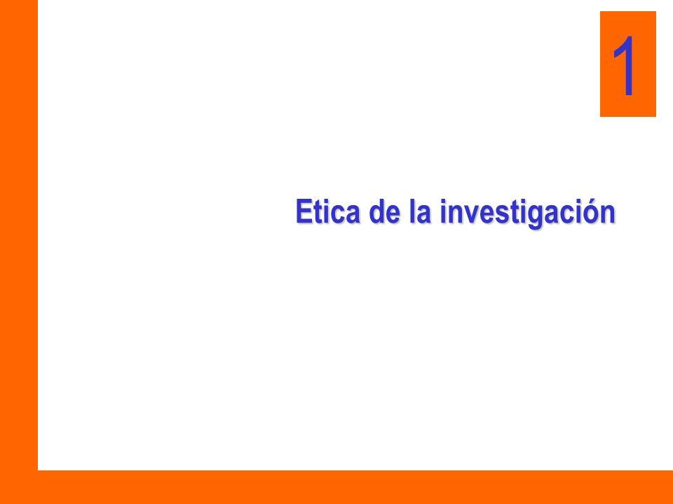 Etica de la investigación