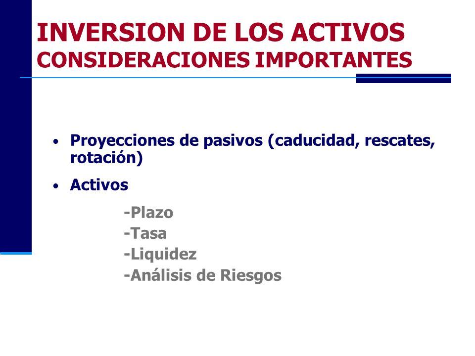 INVERSION DE LOS ACTIVOS CONSIDERACIONES IMPORTANTES