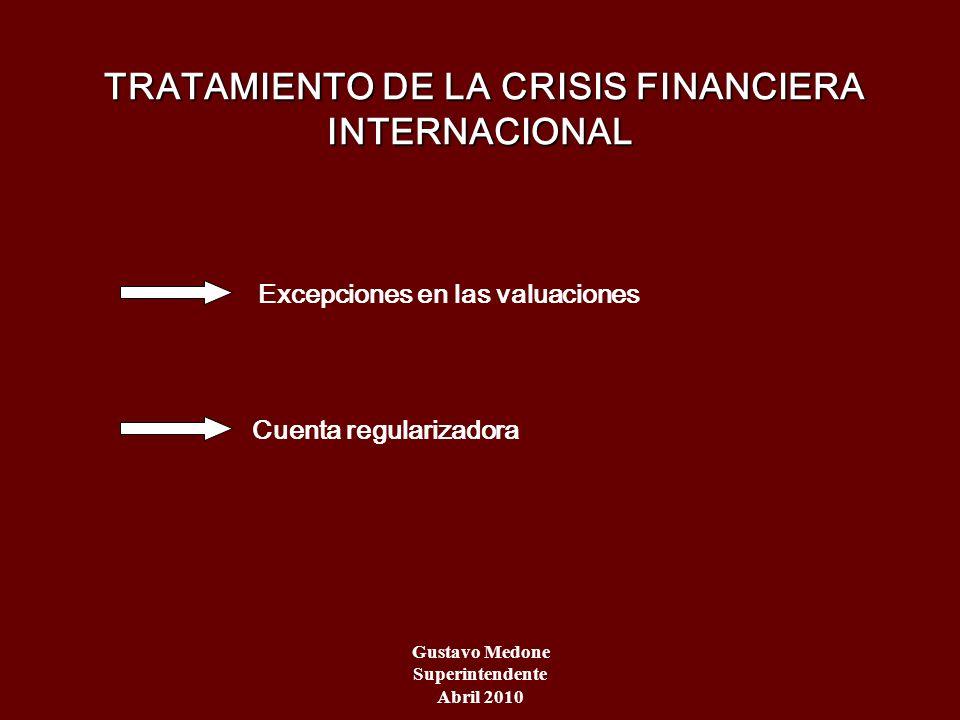 TRATAMIENTO DE LA CRISIS FINANCIERA INTERNACIONAL