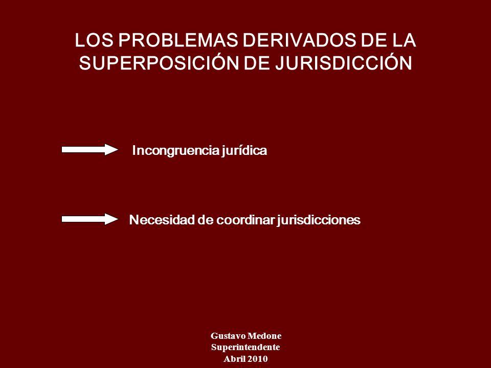 LOS PROBLEMAS DERIVADOS DE LA SUPERPOSICIÓN DE JURISDICCIÓN