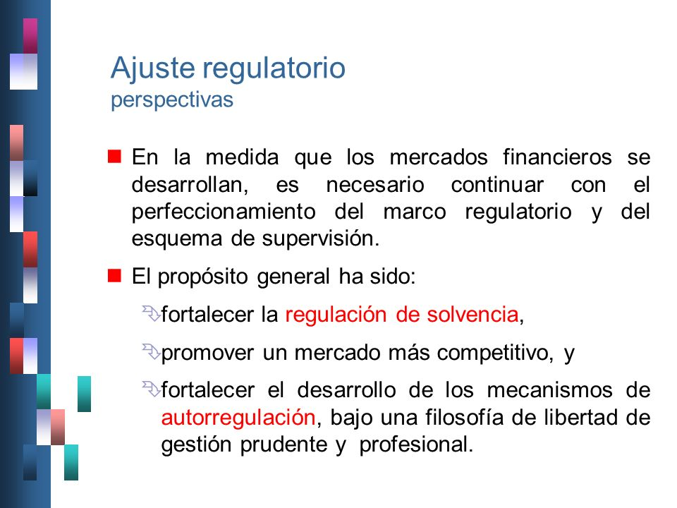 Ajuste regulatorio perspectivas