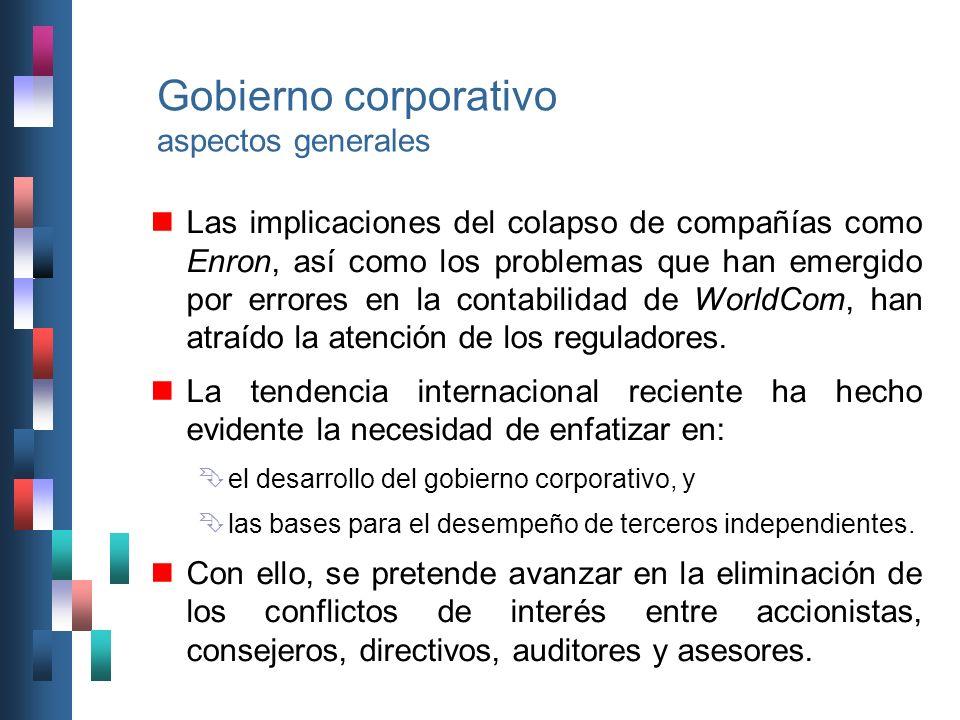 Gobierno corporativo aspectos generales