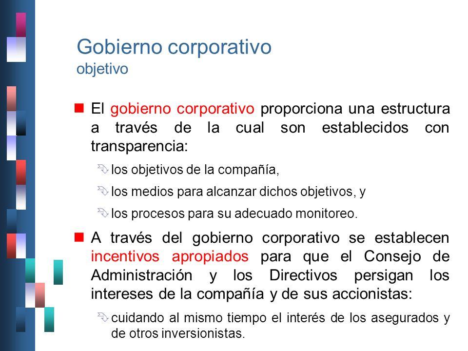 Gobierno corporativo objetivo