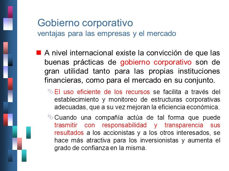 Gobierno corporativo ventajas para las empresas y el mercado