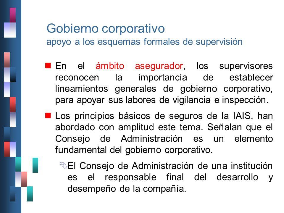 Gobierno corporativo apoyo a los esquemas formales de supervisión