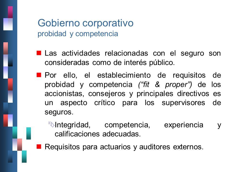Gobierno corporativo probidad y competencia
