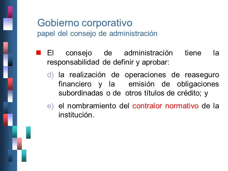 Gobierno corporativo papel del consejo de administración