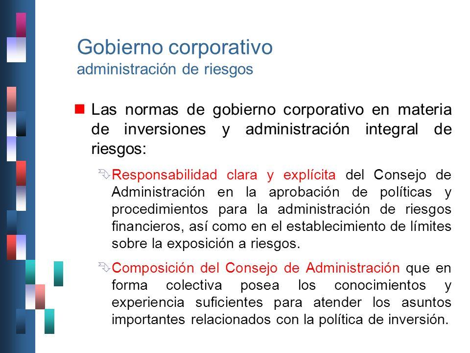 Gobierno corporativo administración de riesgos