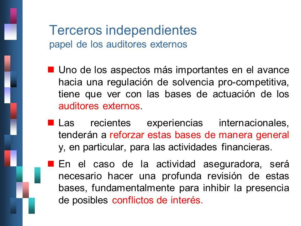 Terceros independientes papel de los auditores externos