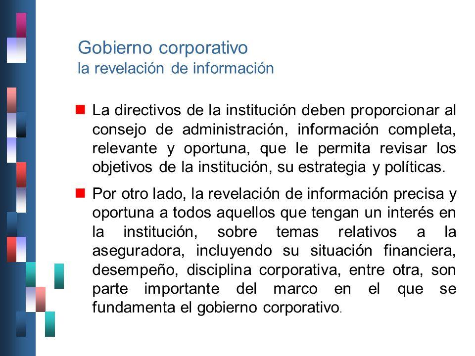 Gobierno corporativo la revelación de información