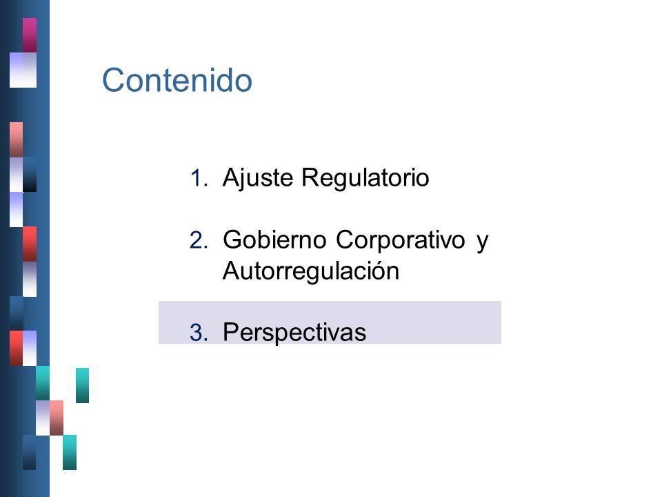 Contenido Ajuste Regulatorio Gobierno Corporativo y Autorregulación