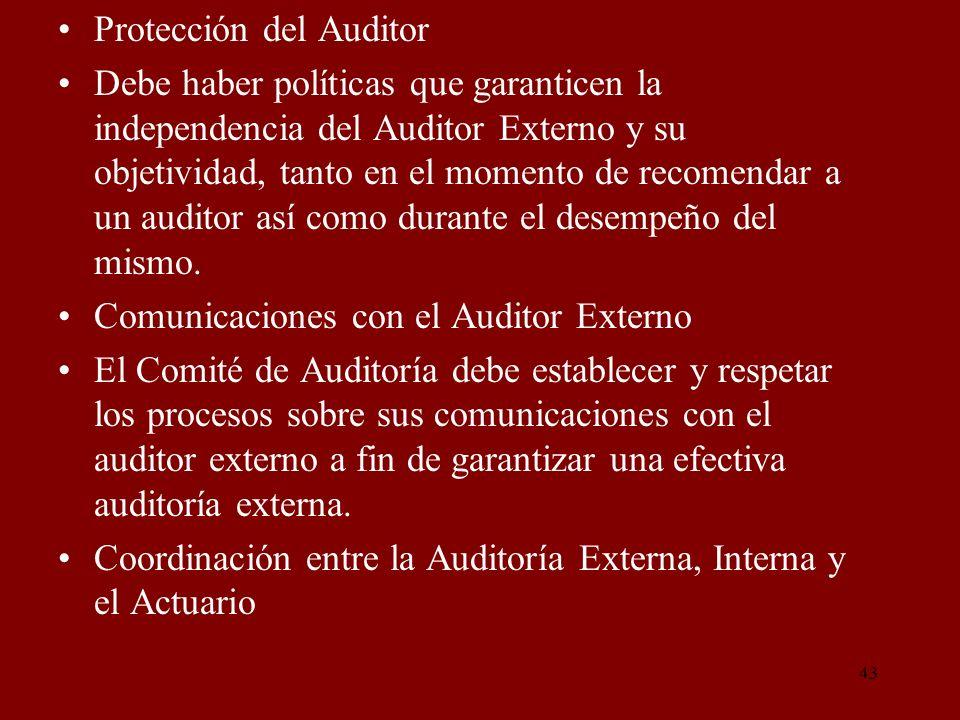 Protección del Auditor