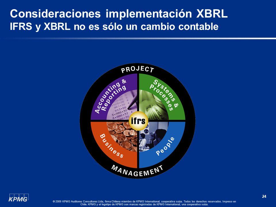 Consideraciones implementación XBRL IFRS y XBRL no es sólo un cambio contable