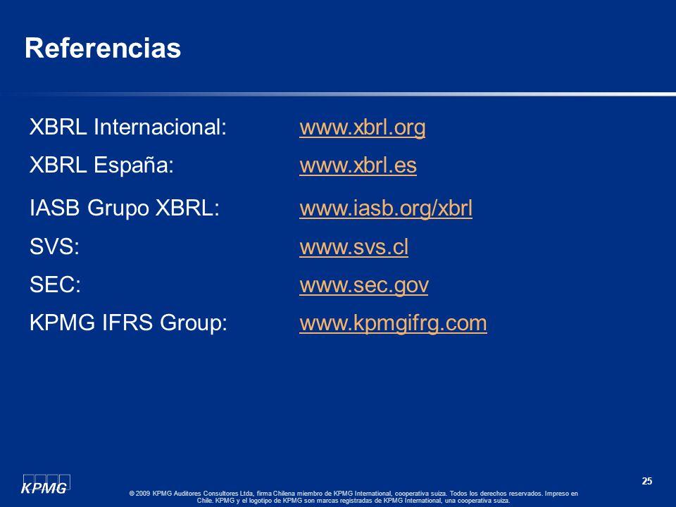 Referencias XBRL Internacional: www.xbrl.org XBRL España: www.xbrl.es
