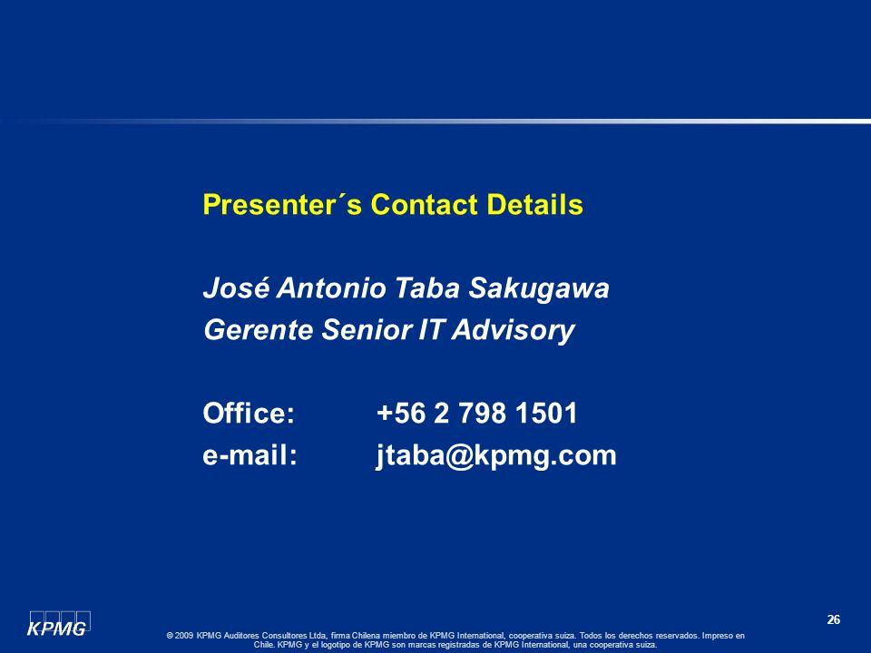 Presenter´s Contact Details