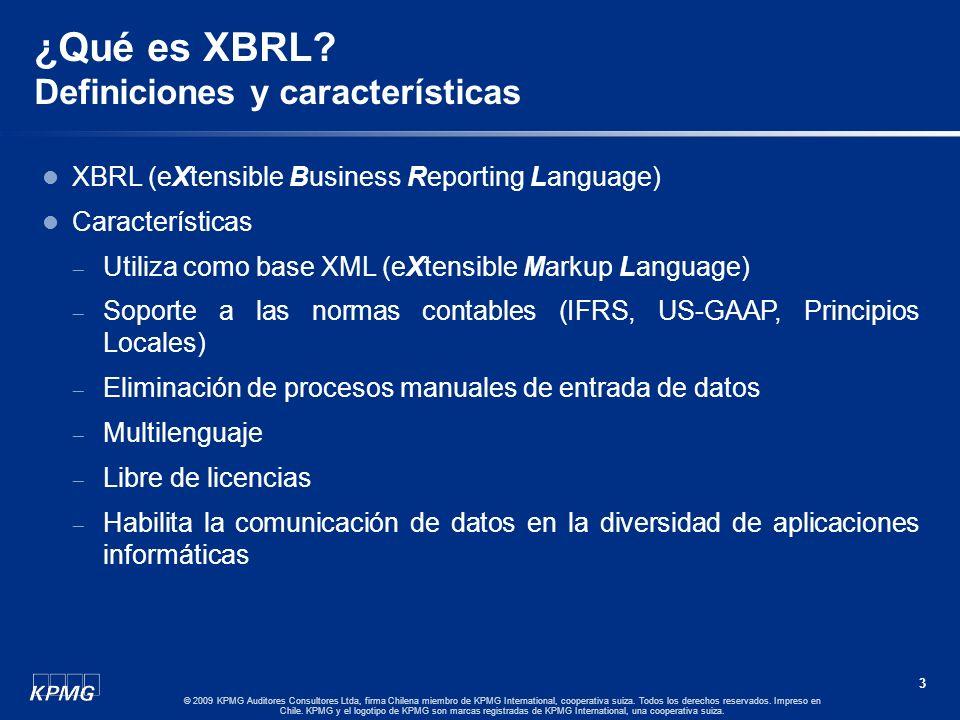 ¿Qué es XBRL Definiciones y características