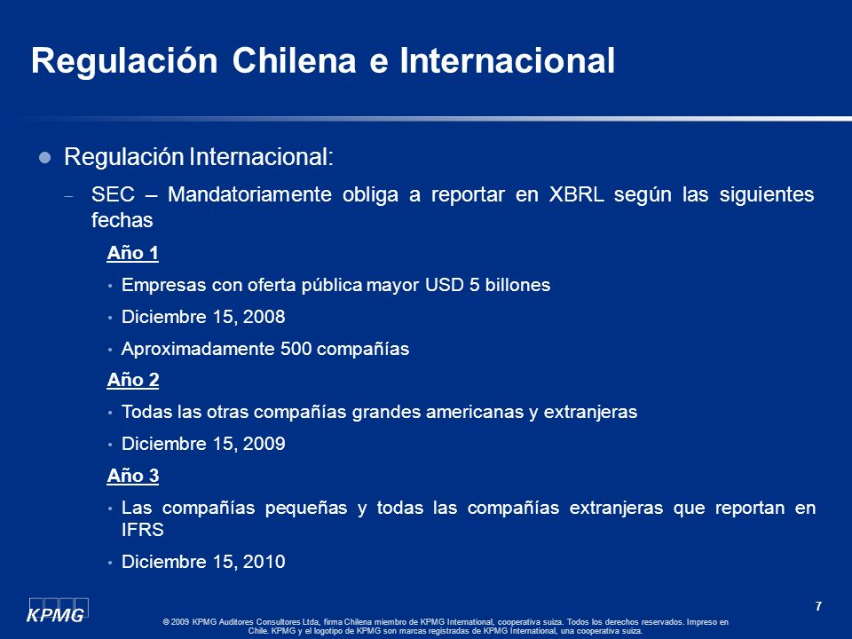 Regulación Chilena e Internacional
