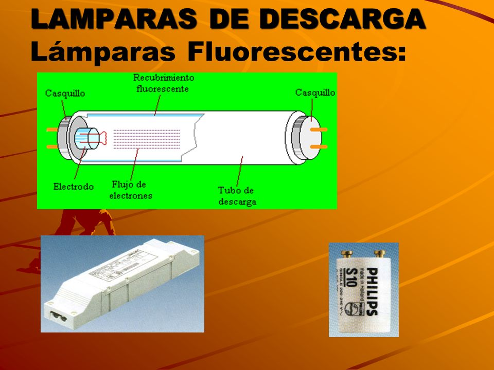 LAMPARAS DE DESCARGA Lámparas Fluorescentes: