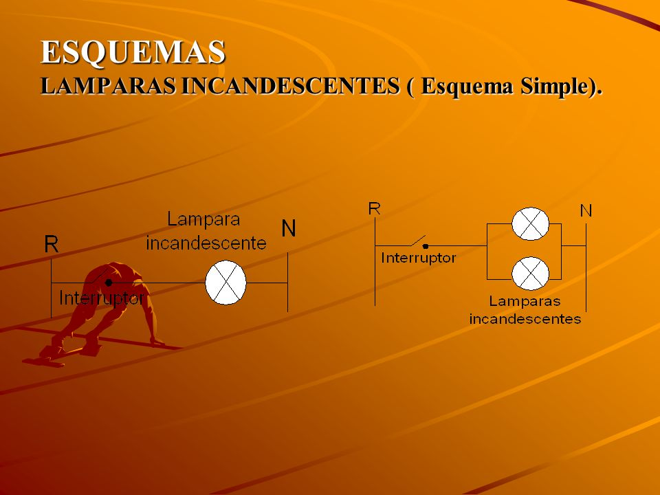 ESQUEMAS LAMPARAS INCANDESCENTES ( Esquema Simple).