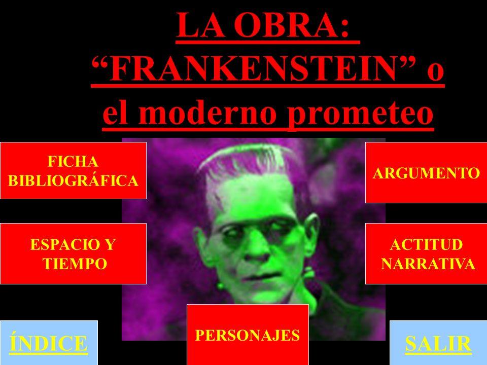 LA OBRA: FRANKENSTEIN o el moderno prometeo
