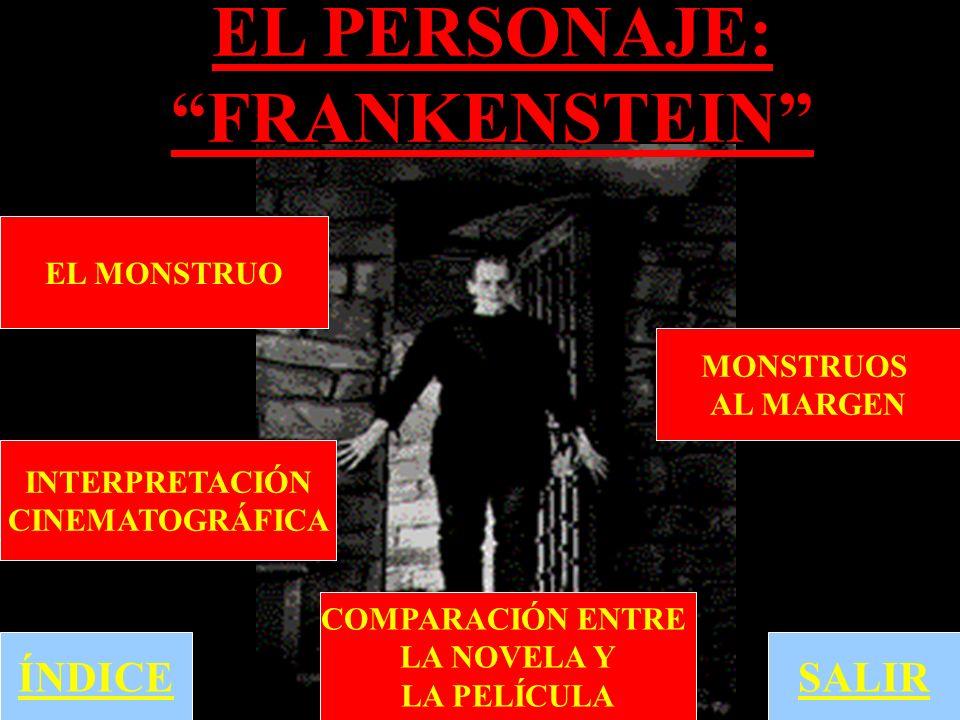 EL PERSONAJE: FRANKENSTEIN