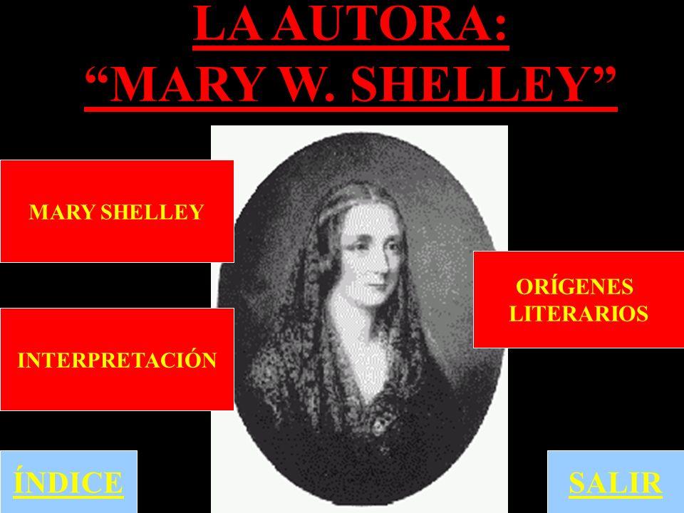 LA AUTORA: MARY W. SHELLEY