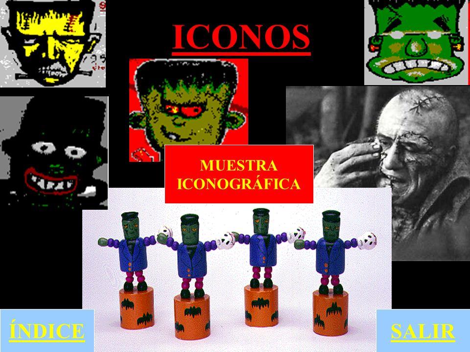 ICONOS MUESTRA ICONOGRÁFICA ÍNDICE SALIR