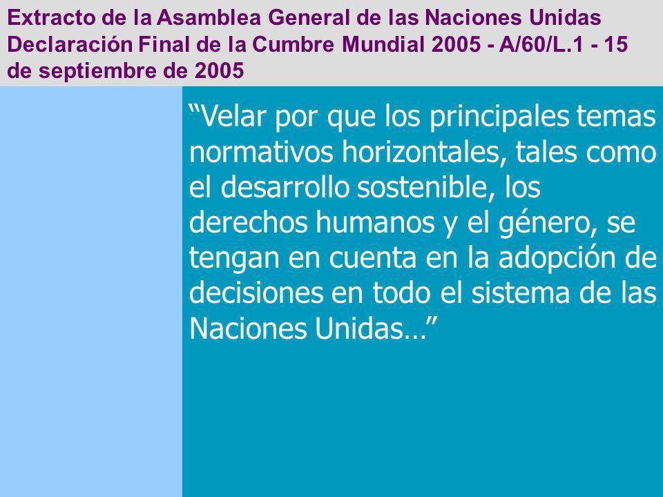 Extracto de la Asamblea General de las Naciones Unidas
