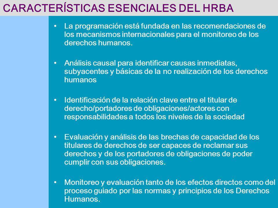 CARACTERÍSTICAS ESENCIALES DEL HRBA