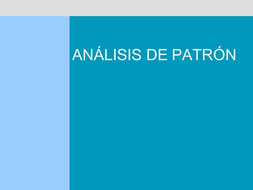 ANÁLISIS DE PATRÓN